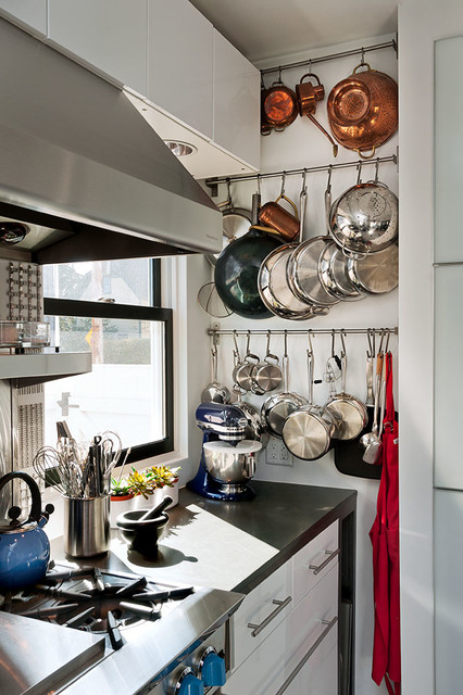 Pots and Pans Rack Kitchen Contemporary with Bar Pulls Black Counter