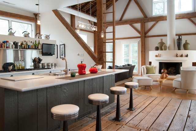Pottery Barn Bar Stools Kitchen Farmhouse with Barn Conversion Built in Bar