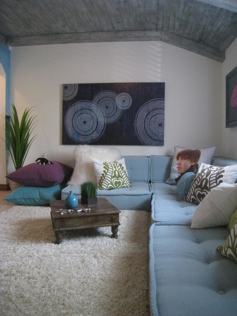 Pottery Barn Couch Kids Contemporary with Aqua Area Rug Artwork