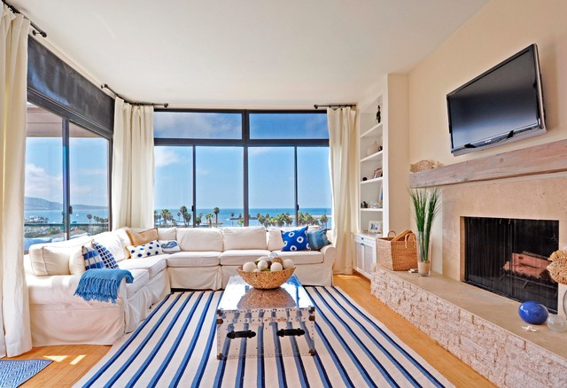 Pottery Barn Sofas Living Room Beach with Almond Walls Beach House