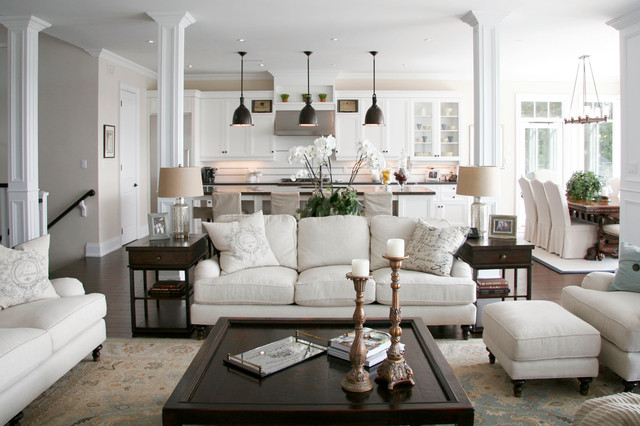 Pottery Barn Sofas Living Room Traditional with Antiqued Bronze Pendant Lights