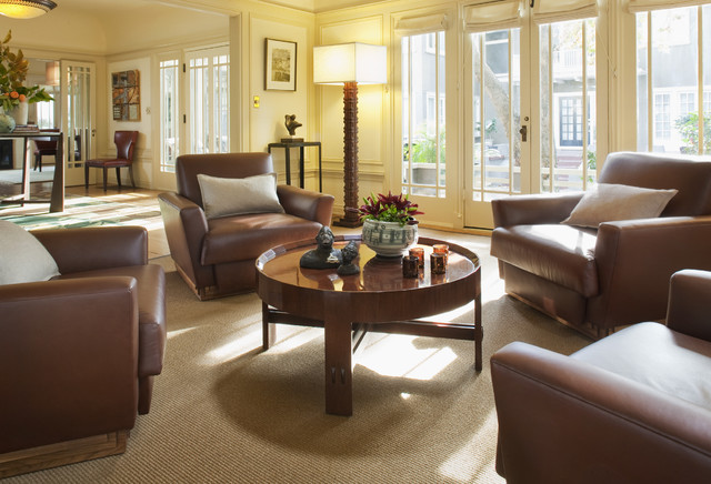 Prairie Style Homes Living Room Eclectic with Carved Wood Decorative Pillows