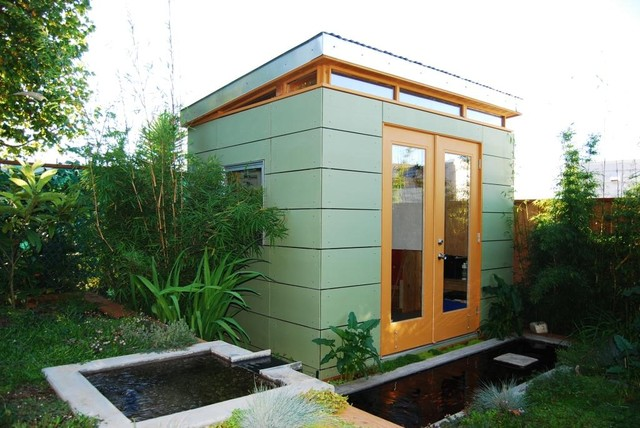 Prefab Sheds Garage and Shed Contemporary with Artist Studio Asian Bamboo