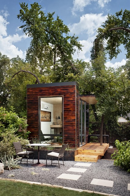 Prefab Sheds Garage and Shed Modern with Addition Art Room Backyard