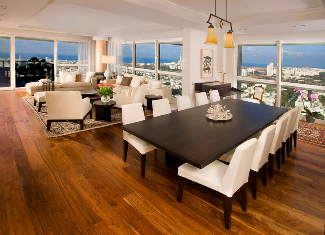 Prosource Flooring Dining Room Traditional with Banquet Table Dar Wood