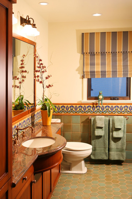 Quarry Tile Bathroom Mediterranean with Bathroom Appliances Bathroom Cabinets