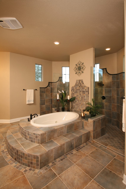Quarry Tile Bathroom Traditional with Bath Bathroom Designer Bathrooms