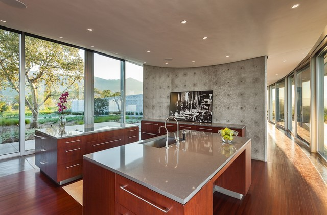 Quartz Countertop Kitchen Modern with Cambria Ceiling Concrete Concrete