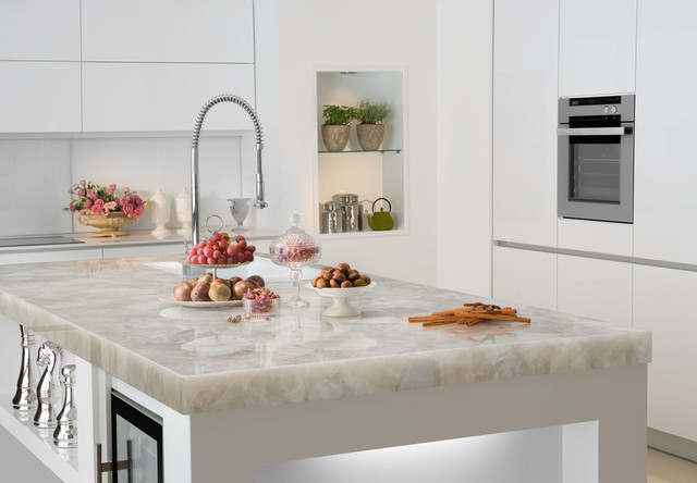Quartz Countertop Spaces Contemporary with White Quartz White Quartz