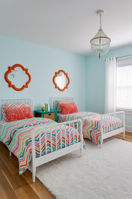 Quatrefoil Mirror Kids Transitional with Chandelier Chevron Bedding Colorful
