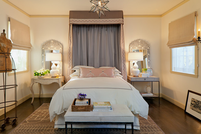 Queen Canopy Bed Frame Bedroom Mediterranean with Area Rug Baseboards Bed