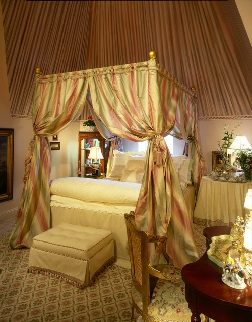Queen Canopy Bed Frame Bedroom Traditional with Bedside Table Canopy Bed