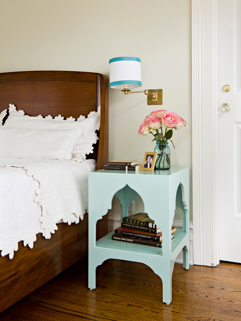 quilted bedspreads Bedroom Traditional with aqua nightstand Bedroom brass