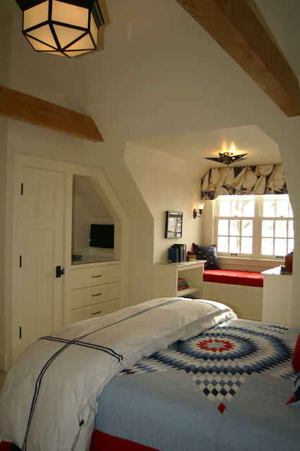 quilted bedspreads Bedroom Traditional with bay window built in