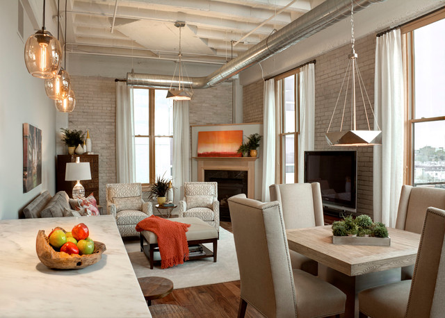 rapport furniture Living Room Industrial with city apartment converted warehouse