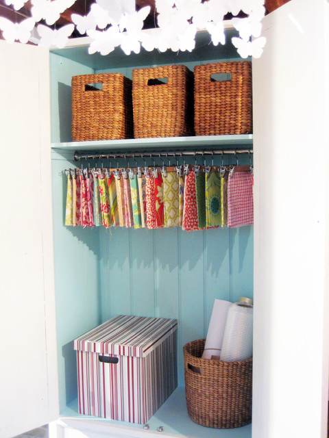 Rattan Baskets Home Office Eclectic with Armoire Beadboard Butterflies Craft