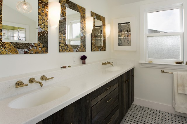 Recessed Medicine Cabinets Bathroom Eclectic with Colorful Bathroom Mirror Double