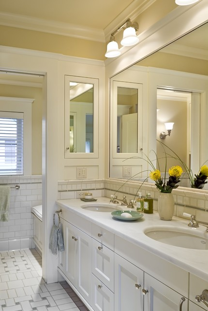 Recessed Medicine Cabinets Bathroom Victorian with Basket Weave Pattern Crown