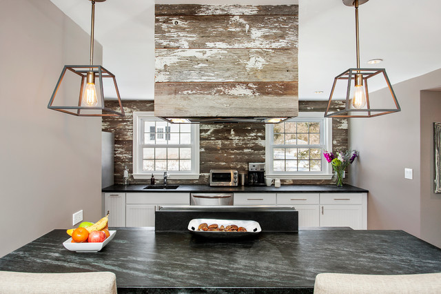 Reclaimed Wood Dresser Kitchen Rustic with Distressed Pendant Lights Reclaimed
