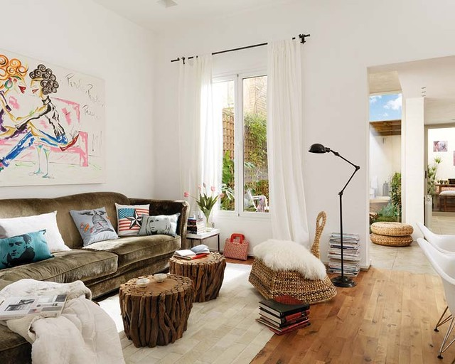 Recliners Ikea Living Room Eclectic with Contemporary Art Eclectic Apartment