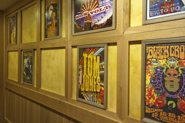 Record Album Frames Hall Eclectic with Hallway Plaster Restaurant Venetian