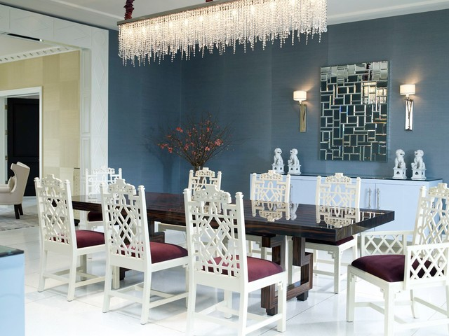 Rectangle Chandelier Dining Room Contemporary with Buffet Crystal Chandelier Dining