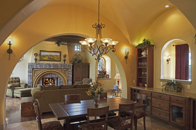 Rectangle Chandelier Dining Room Rustic with Archway Ceiling Lighting Centerpiece
