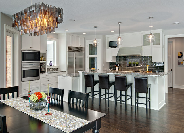 Rectangle Chandelier Kitchen Contemporary with Breakfast Bar Ceiling Lighting