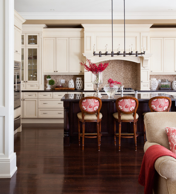 Rectangle Chandelier Kitchen Traditional with Beige Cabinets Beige Drawers