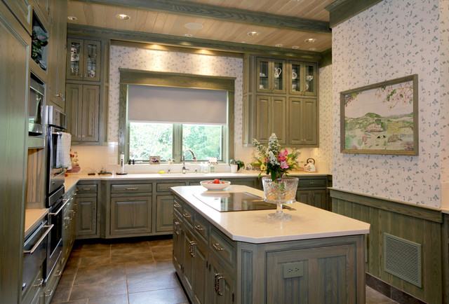 Reface Cabinets Kitchen Farmhouse with Beaded Panelling Clerestory Cabinets