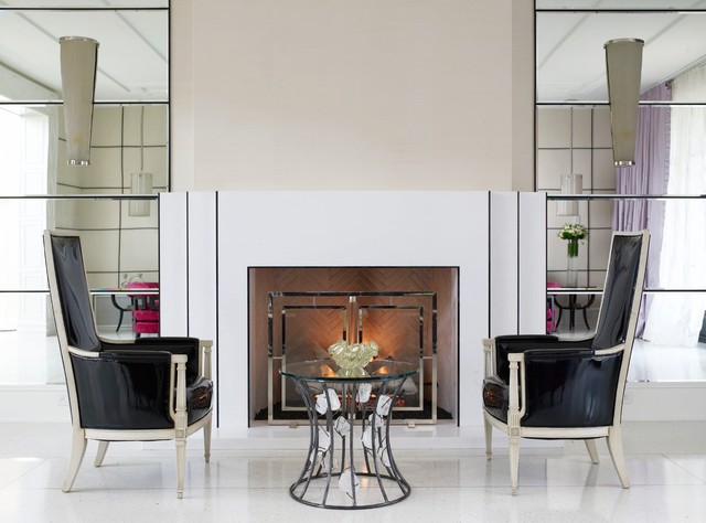 Regency Fireplace Living Room Contemporary with Armchairs Black Chair Fireplace