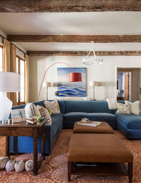 Regina Andrew Lighting Family Room Transitional with Accent Color Area Rug