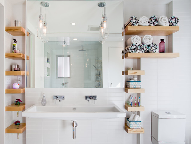 Renovators Supply Bathroom Contemporary with Bare Bulb Pendant Bathroom