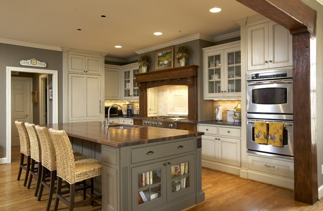 Renovators Supply Kitchen Traditional with Breakfast Bar Butcher Block