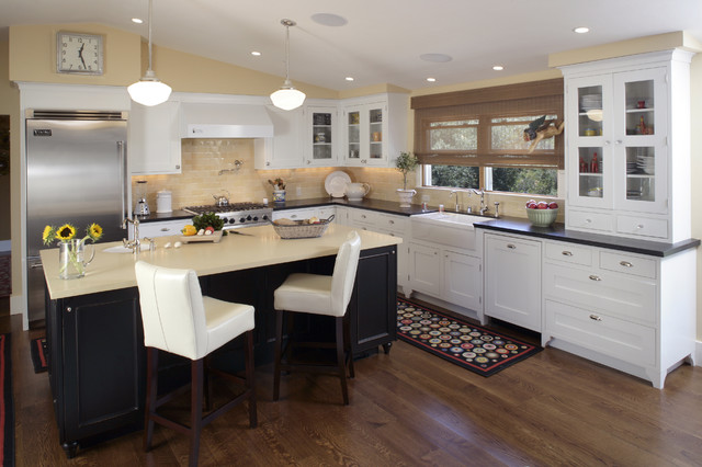 Repainting Kitchen Cabinets Kitchen Traditional with Apron Sink Breakfast Bar1