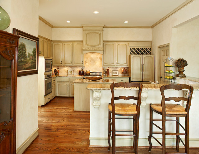 Repainting Kitchen Cabinets Kitchen Traditional with Baseboards Beige Counters Beige