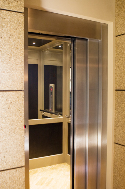 residential elevators Spaces Modern with accessibility closet elevator Home