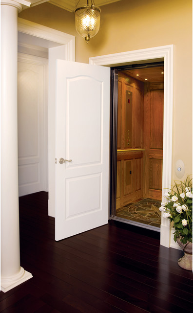 Residential Elevators Spaces Traditional with Accessibility Elevator Home Elevator