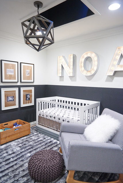 Restoration Hardware Baby and Child Nursery Contemporary with Gallery Art Ideas For
