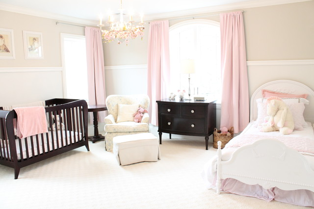 restoration hardware baby and child Nursery Traditional with arched window babies room