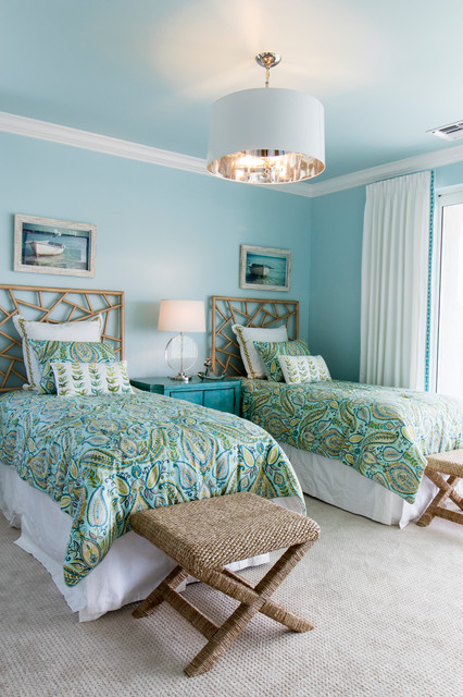 Robb and Stucky Bedroom Beach with Blue End Table Blue