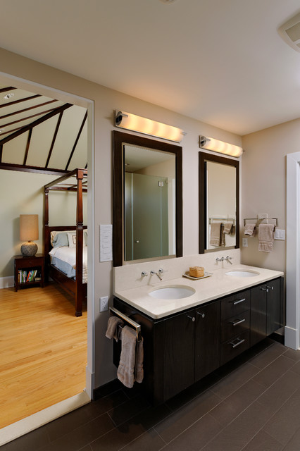Robern Medicine Cabinets Bathroom Contemporary with Balcony Beams Cedar Ceiing
