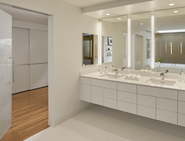 robern medicine cabinets Bathroom Contemporary with boyd lighting Caesarstone coutertop