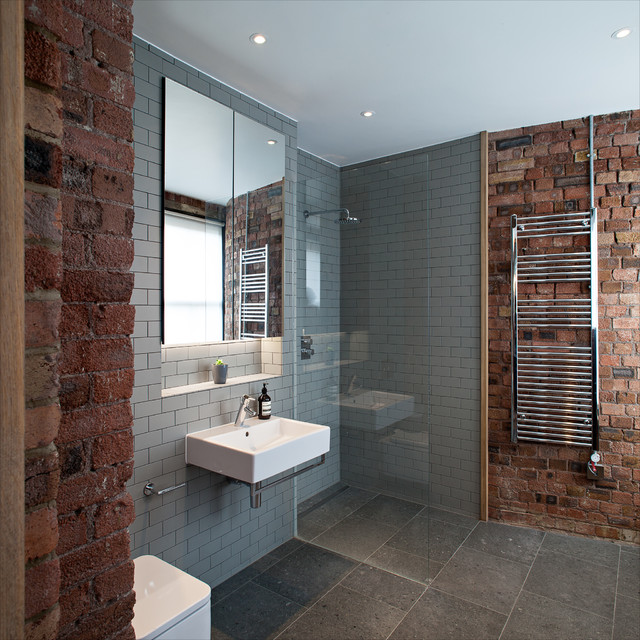 Roca Tile Bathroom Contemporary with Chris Dyson Architects Exposed