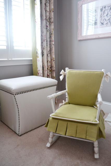 Rocking Chair Covers Nursery Transitional with Baby Bedding Bows Butterfly