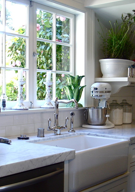 Rohl Faucets Kitchen Traditional with Deep Sink Farm Sink