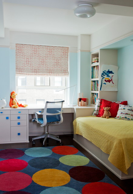 rolly chair Kids Transitional with blue knobs Boy's Bedroom