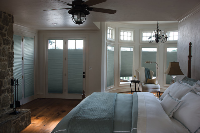 room darkening blinds Bedroom Traditional with Beautiful Windows beautiful wood