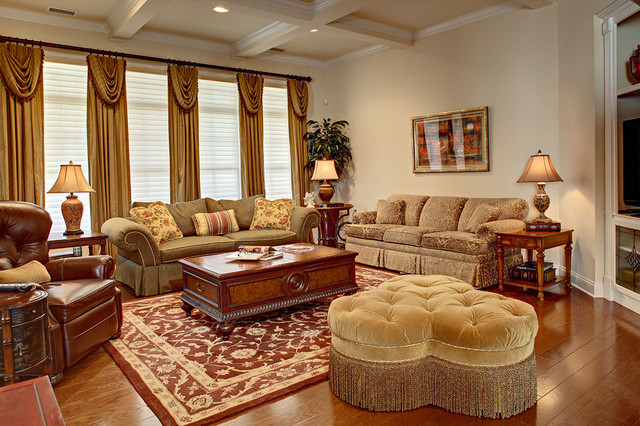 Room Darkening Blinds Living Room Traditional with Coffee Table Ottoman Family