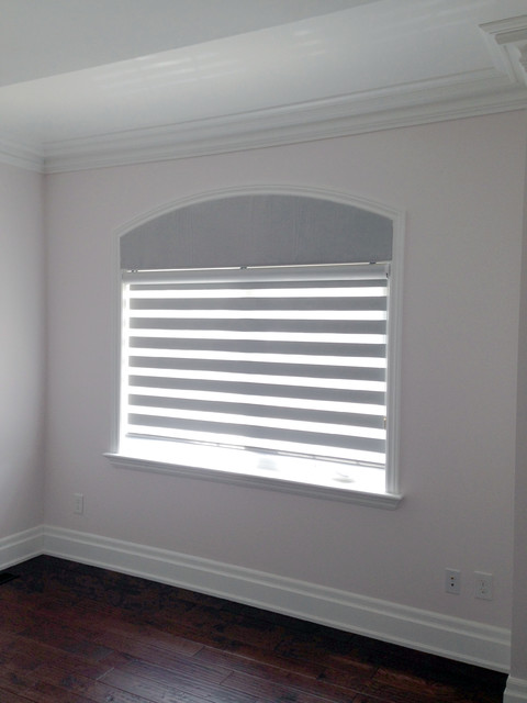 Room Darkening Blinds Spaces with Arch Window Valance Markham